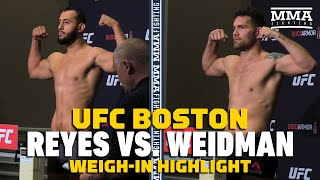 UFC on ESPN 6: Dominick Reyes, Chris Weidman Make Weight - MMA Fighting by MMA Fighting