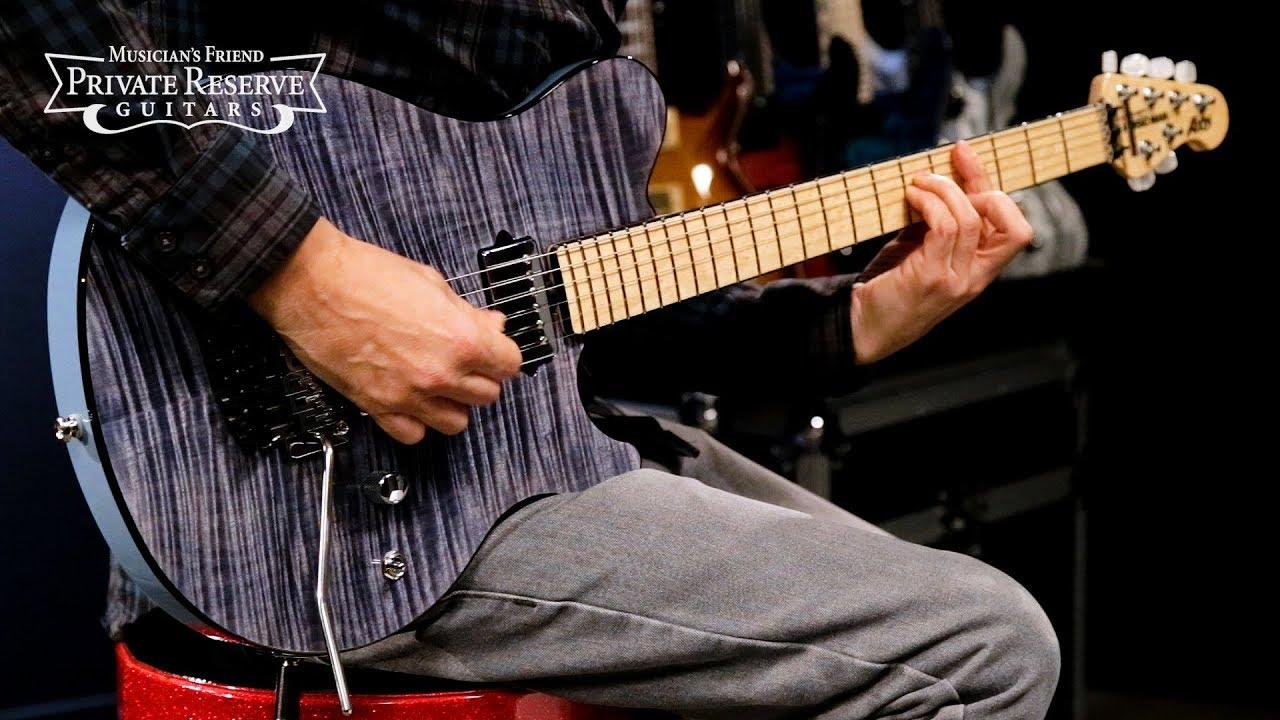 Ernie Ball Music Man BFR Steel Blue Axis Electric Guitar