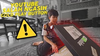 Video YOUTUBE SALAH KASIH GOLD PLAY BUTTON! + JATOH MP3, 3GP, MP4, WEBM, AVI, FLV Maret 2019