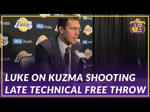 Video: Lakers Post Game: Luke on Kuzma Taking Late Free Throw Technical, Chandlers Game Winning Block
