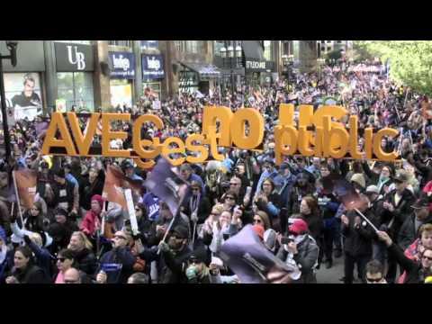 Manifestation en Front commun - 3 octobre