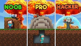 Minecraft - SECURE NUKE BASE! (NOOB vs PRO vs HACKER)
