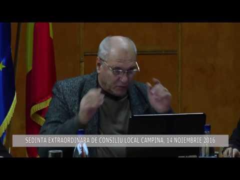 Ședința extraordinară a Consiliului Local Câmpina din 14 noiembrie 2016