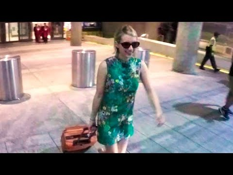 Emma Roberts Tells LAX Paparazzi 'Don't Post This' Despite Looking Great Upon Arrival From Paris