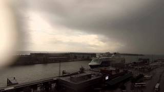 Storm front rising 24.06.15. Time lapse
