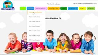 Math quizzes for kids online from kindergarten to 6th Grades. A great place for parents who need to homeschool their kids and teachers who wish to supplement their regular course. Each quiz is tracked and moodle and learners are awarded certificates after completing a level. http://www.kidsmathtv.com/ has it all covered. Also featuring are math videos by level and by topics. Have fun learning. Background sound source: bensound.com