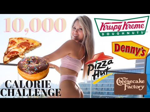 10,000 CALORIE CHALLENGE DESTROYED   GIRL VS FOOD