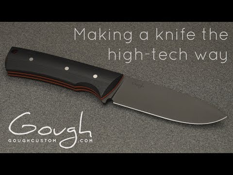 [OC] Making a knife the high-tech way - I've been waiting over a year to be able to share this video with you guys!