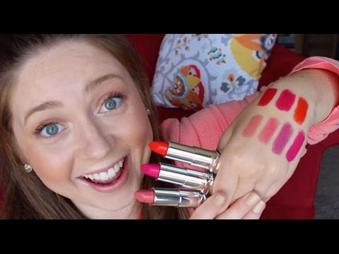 Rimmel Moisture Renew Lipsticks! Review, Swatches & Favs! ♡