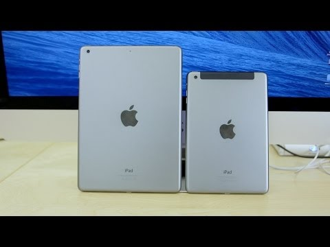 Display - Audible: http://www.audible.com/today A detailed comparison of Apple's new iPad Air vs iPad Mini with Retina Display! The iPad Mini with Retina Display and i...