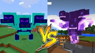 What Happens When You Spawn the Wither Storm Boss and the Hydra Dragon Boss in Minecraft PE