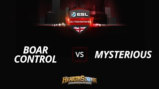 BoarControl vs MysteriousHS, game 1