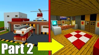 "Minecraft Tutorial: How To Make A Fire Station Part 2 ""2019 City tutorial"""