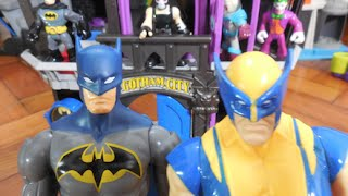 Cadeia Prisão Gotham City Jail Imaginext  Batman  Bane Homem Aranha Wolverine Hulk Imaginext Toys