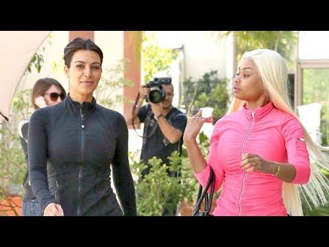 Make-up Free Kim Kardashian And Blac Chyna Flaunt Sexy Curves At Bootcamp [2013]