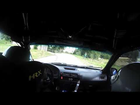 Rajd Dolnoslaski 2017 Klaudia Temple Michal Poradzisz Honda Civic Onboard Pisary 2