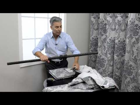 Video for Jet Black Faux Silk Taffeta Single Panel Curtain, 50 X 96