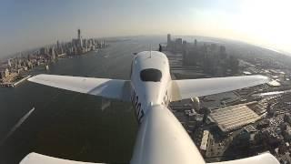 Cirrus Aircraft New York City Hudson River VFR Corridor Walk Thru