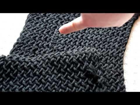 Schal mit Strickrahmen stricken Teil 04/11: Knoten beim Stricken verstecken