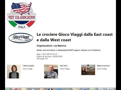 Video Le crociere Gioco Viaggi dalla East coast e dalla West coast (7-3-2019)