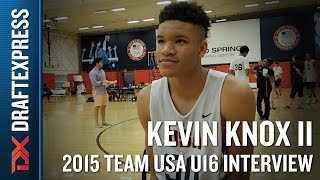 Kevin Knox II 2015 Team USA U16 Interview - DraftExpress