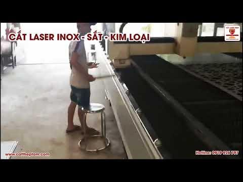 Cắt chữ inox laser dày 8 ly