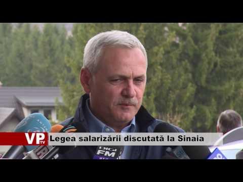 Legea salarizării discutată la Sinaia
