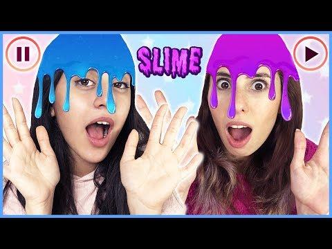 Pause Slime Challenge Selena vs Hades Slaym Eğlenceli Çocuk Videosu Dila Kent