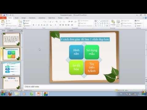 Powerpoint cơ bản: 4 cách làm slide thuyết trình đẹp hơn - Thời lượng: 5 phút, 4 giây.