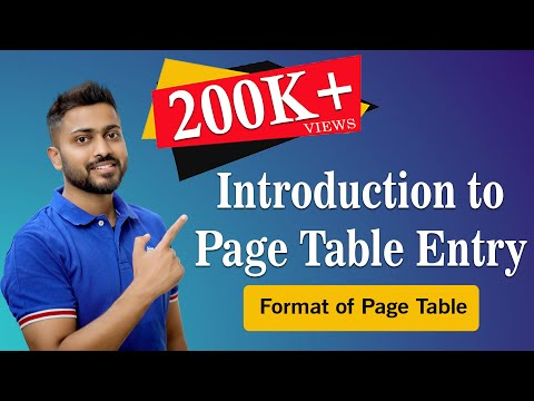 Format of Page Table Entry | Memory Management | Operating System