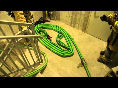 CITY OF MIAMI FIRE RESCUE UNTENABLE / TENABLE HALLWAY 2 IN HIGH-RISE HOSE DEPLOYMENT VIDEO