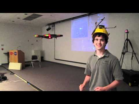 Object tracking for human interaction with autonomous quadcopter