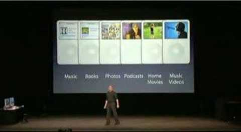 ipod video - Here we see Steve Jobs at the