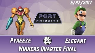 The hypest Smash 4 set you've never seen. Pyreeze (Samus) vs BSD | Elegant (Luigi) – Port Priority Winners Quarters