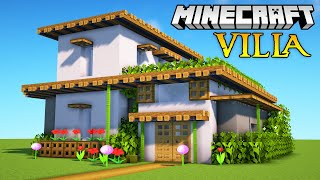 Minecraft: How to Build a Modern Villa Tutorial