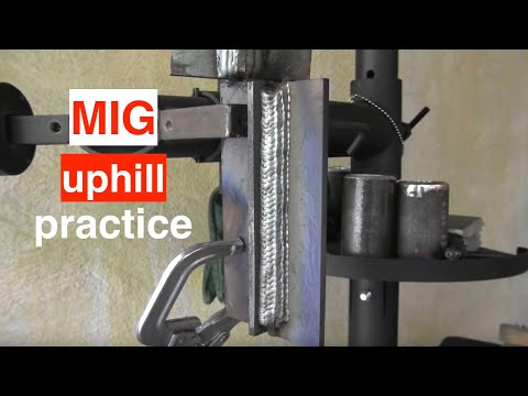 Basics - Visit the store here http://weldmongerstore.com/ See a much more detailed article here http://goo.gl/veY4lc This is part 7 ins this MIG welding basics series. Mig welding uphill is where all...