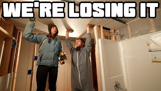 Ridiculous Bathroom Drywall Install   Home Renovation #58