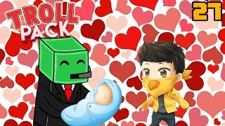 The Slime & Me (marriage, a baby, broken server, etc) | Minecraft: Troll Pack Ep. 27
