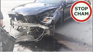 Wypadek na skrzyżowaniu w Racławicach
