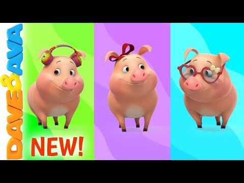 🌈 This Little Piggy - Colors for Kids | Nursery Rhymes by Dave and Ava 🌈