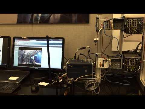 Controls system demo on high speed fiber optic line