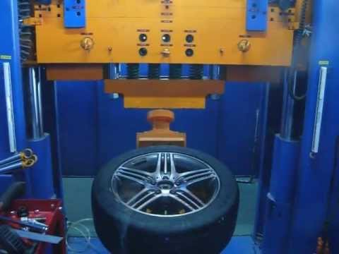 Испытание диска WSP Italy W768 STROMBOLI на удар (Mercedes)