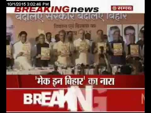 बिहार में बीजेपी का विजन डॉक्यूमेंट जारी