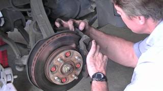 Front brake pad replacement on a 1990 Honda Accord. Brake pad removal and replacement. This video is for the Passenger side, but driver side is similar.