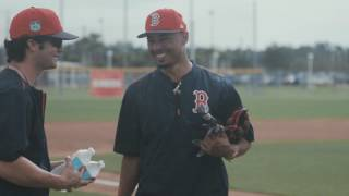 The Wilson Baseball team packed up the glove bags and headed south to kick off #GloveDay 2017 with the Houston Astros and Boston Red Sox. Dustin Pedroia, Mookie Betts and Jose Altuve got the first look at their game model gloves, and Carlos Correa met with Glove Master Craftsman Shigeaki Aso to discuss his 2017 custom. Get a sneak peek at here.