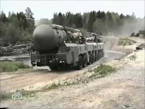 Topol M missile - MZKT-79221 transporter erector launcher for the Topol-M missile. The Topol is one of the most recent intercontinental ballistic missiles to be deployed by Ru...