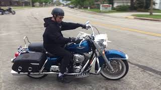 6. 2006 Harley Davidson Road King Classic FLHRCI (blue) 2192 Fallen Cycles