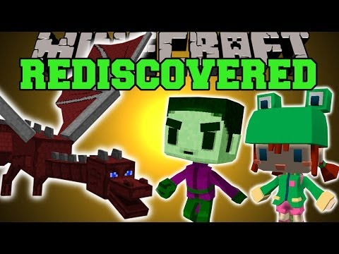 Minecraft: REDISCOVERED (SECRET MINECRAFT FEATURES!) Mod Showcase