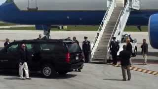 Fort Pierce (FL) United States  city photos : President Obama arrives in Fort Pierce, Florida