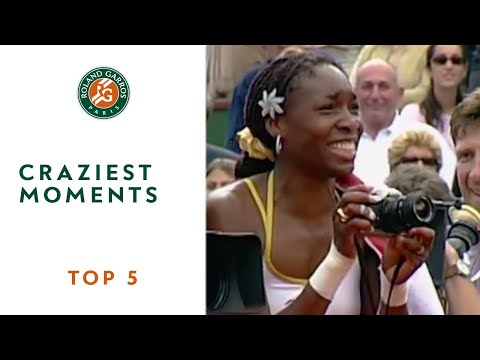 underhand - Michael Chang, Martina Hingis, Marat Safin, Gustavo Kuerten, Venus Williams offer five of the craziest moments in the Roland Garros history.